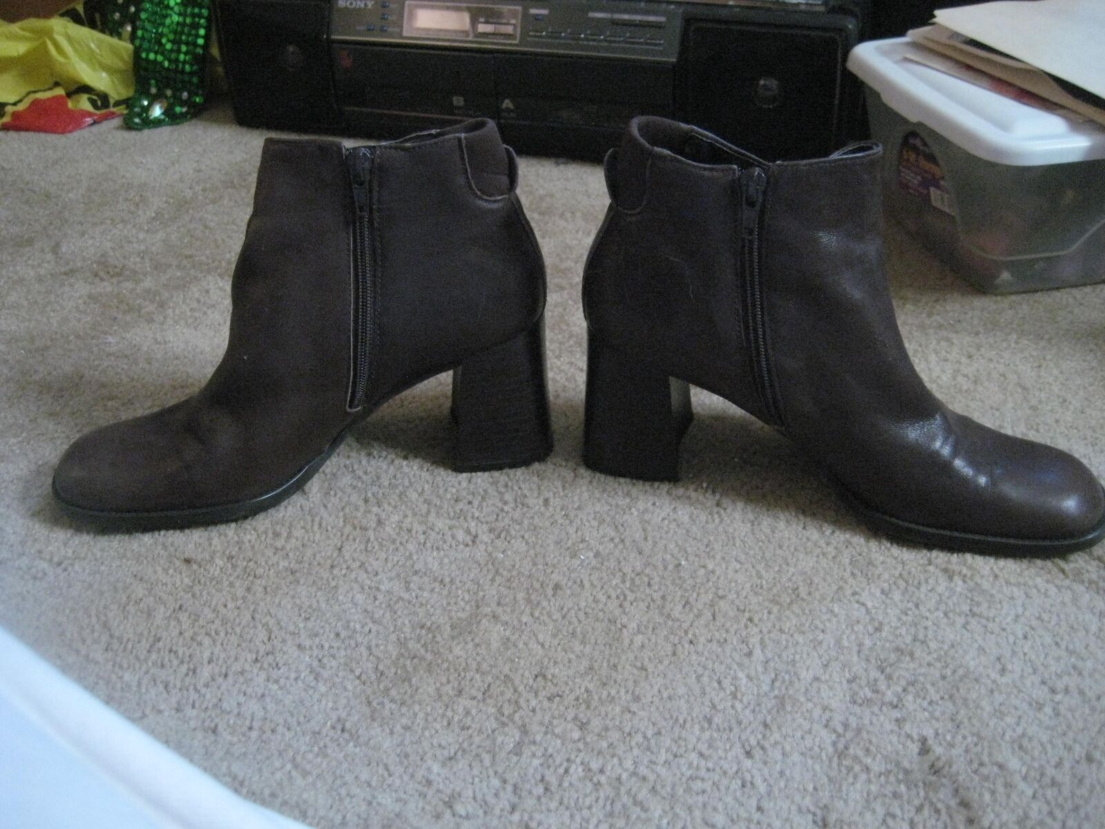 e693627b95a NINE WEST BROWN LEATHER ANKLE SIZE 7.5 BOOTS, nopmpy6246-Women's ...