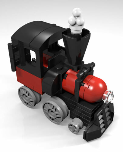 Constructibles® Train Engine Mini Model LEGO® Parts /& Instructions Kit