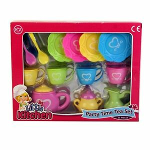 childrens kids tea party time playset teapot cups plates play set toy new ebay. Black Bedroom Furniture Sets. Home Design Ideas