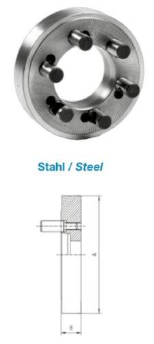 ZENTRA Flansch Kurzkegelaufnahme DIN 55029 Stahl futterseitig Plan