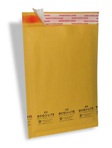 25 #5 10.5x16 KRAFT ECOLITE BUBBLE MAILERS PADDED ENVELOPES #5