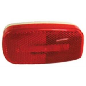 Peterson V180R Piranha Red LED Oval Clearance/Side Marker Light with Reflex