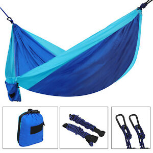 Portable Nylon Hammock Hanging Sleeping Bed Swing Outdoor Travel