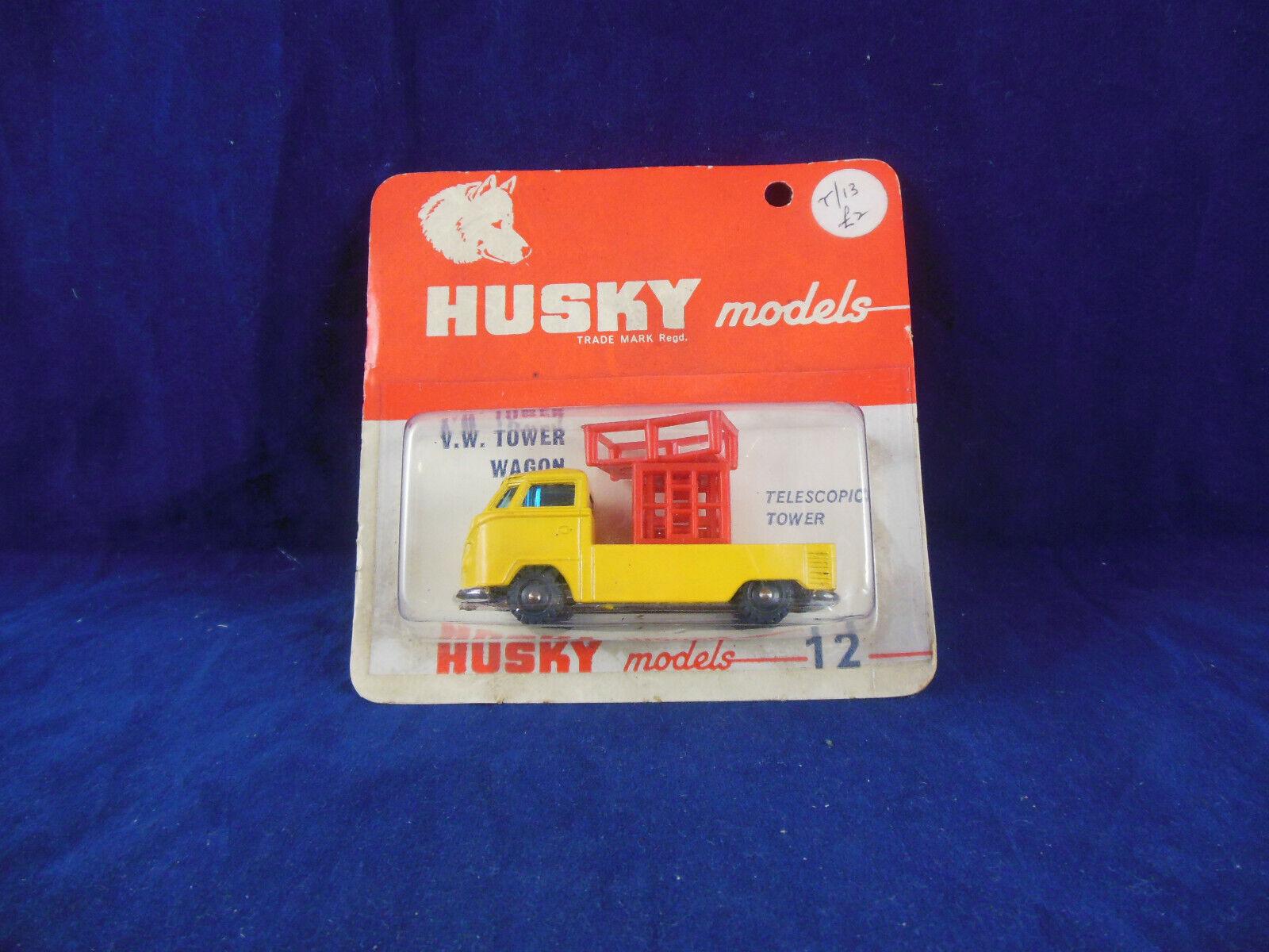 Husky Models no. 12 VW Tower Wagon Telescopic tower in orange   Red Volkswagen