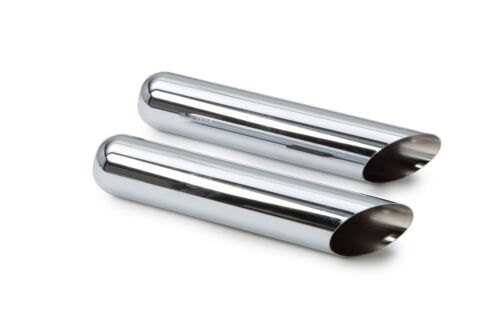 Ford F150 F250 1995-1997 Dual Exhaust Kit Flow II Stainless Muffler Chrome Tips
