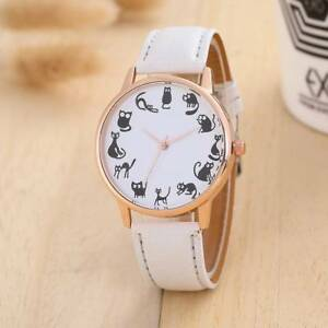 CAT-WRIST-WATCH-WHITE-FAUX-LEATHER-STRAP-CAT-LOVER