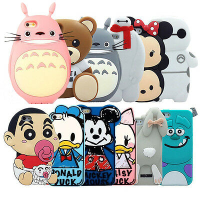 New 3D Cute Cartoon Soft Silicone Back Skin Cover Case For iPhone 5 5S 6/6 Plus