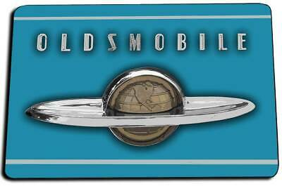 1940/'s Oldsmobile Hood Emblem Globe Chrome Design Indoor Door Rug