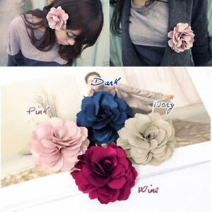 Fashion-Woman-Lady-Peony-Flower-Hair-Clip-Hairpin-Brooch