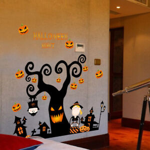 Removable-Tree-House-DIY-Decal-Vinyl-PVC-Wall-Sticker-Halloween-Home-Decoration