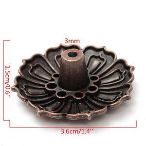 Lotus-Shape-9Holes-Incense-Burner-Holder-Censer-Plate-For-Stick-amp-Cone-Useful-sy