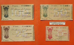 BILBAO-5-25-50-100-PESETAS-1936-EUSKADI-GUERRA-CIVIL-1937-BILLETES-de-EUZKADI-3
