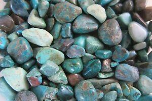Chrysocolla-Qty-1-Tumbled-Stone-20-to-25mm-Peru-Reiki-Healing-Crystal-Throat