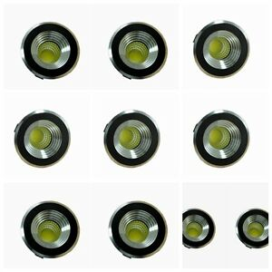 10x led einbaustrahler minispot einbauleuchte spot einbau 3w warmwei 230v ebay. Black Bedroom Furniture Sets. Home Design Ideas