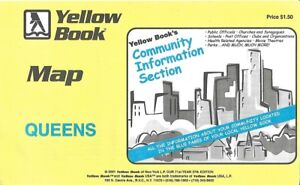 Map Of New York 2001.Details About 2001 Yellow Book Road Map Queens New York City Parks Cemeteries Golf Courses Rr