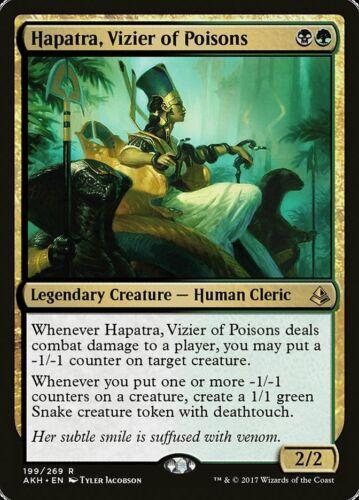 1X FOIL Hapatra Vizier of Poisons MTG Magic AMONKHET #199