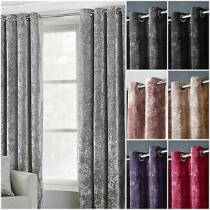 Luxury Grey Velvet Curtains With Eyelet Ring Top Fully Lined Ready Made Tiebacks