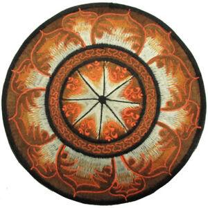 Aufnaeher-PATCH-D-22-cm-Mandala-OM-AUM-OOM-OHM-Mandala-Lotos-Blume-Nepal-Goa