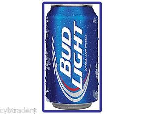Details about Large Bud Light Beer Can Refrigerator / Tool Box / Kegerator  Magnet
