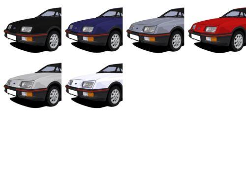 ADD REG DETAILS! CHOOSE YOUR CAR COLOUR FORD SIERRA XR4i CAR ART PRINT