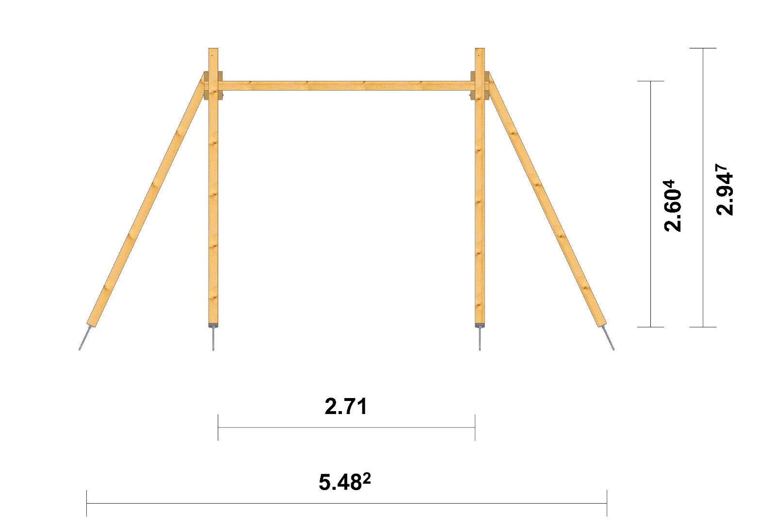 Schaukelgerüst extrem stabil Schaukel Pfosten 12x12 Holzschaukel Holzschaukel Holzschaukel Doppelschaukel c9ec98