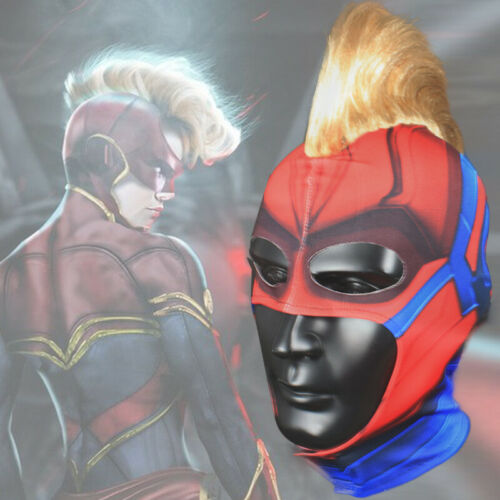 Captain Marvel cosplay movie costume Mask Face Helmet For Halloween Party Props
