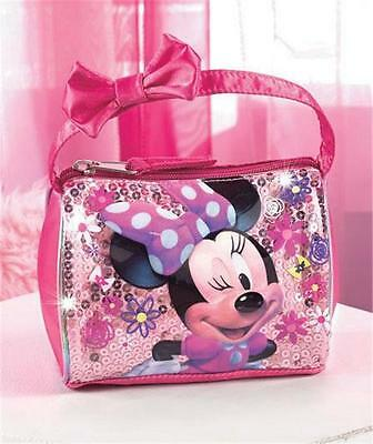 LITTLE GIRLS' DISNEY MINNIE MOUSE EMBELLISHED BARREL STYLE HANDBAG ADORABLE!