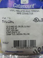 T&B, TV10-38R-L, VINYL INSUL RING TERMINAL 12-10#38.  50/PKG