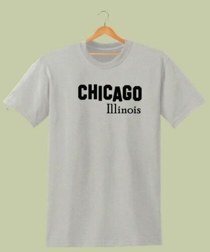 CHICAGO ILLINOIS SLOGAN PRINTED T SHIRT WOMENS HIPSTER AMERICAN DOPE HOLIDAY TEE