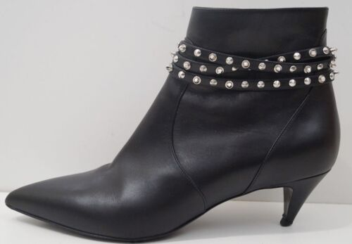 con Paris pelle Uk6 Laurent nero in scarpe gatto gatto nere Eu39 Saint q015PP