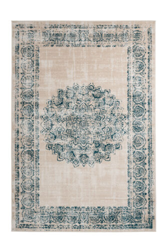 Vintage Tapis Crème Bleu salon tapis est partie Couleurs 160x230cm