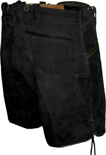 Brève pantalon cuir bretelles costumes pantalon cuir me eicherlaub Noir