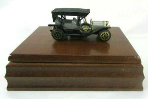 VTG-1984-Wood-Box-1907-Diecast-Peugeot-Antique-Car-Playing-Cards-2-Sealed-Decks