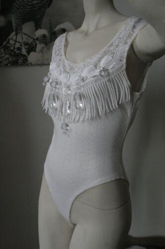 True Bianco Weiss Vintage Damen 90er donna Harold Paris Tm Maik da Body q6RSfw