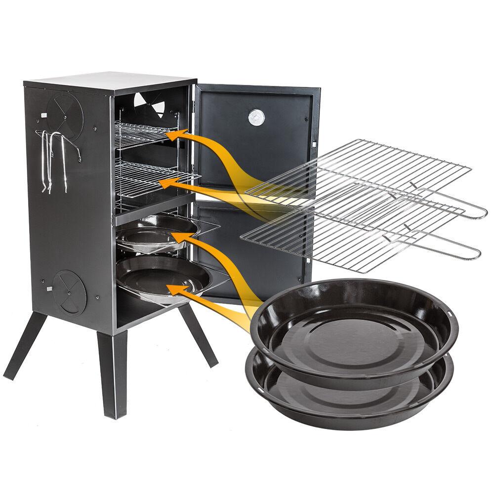 Räucherofen Räucherschrank Räuchertonne Räucher Grill Ofen Smoker +Thermometer n n n 03a6e8