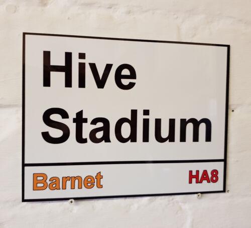 BARNET FC la ruche Stadium Signe en Métal Aluminium Football Ground les abeilles