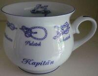 Kapitän Plattdeutsch Henkel Becher Kaffee Tasse Tee Henkelmann Platt Mugg Gross