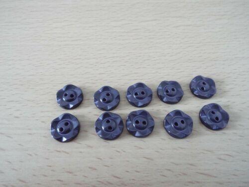 10 X Bottoni Blu Navy RUOTA 2 FORI Taglia 22L 14mm H16