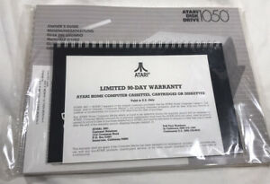 Vintage NOS Atari 1050 DISK DRIVE Owners Guide/ Introduction DOS 3 System Manual