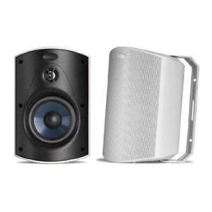 Polk-Audio-Atrium-5-Outdoor-Speaker-60Hz-25kHz-Pair-Black-Brand-New