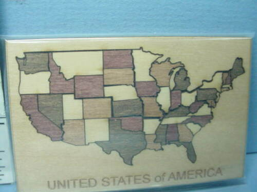 Miniature Wooden Jig Saw Puzzle USA   #410 Terry Harville 1//12th Scale