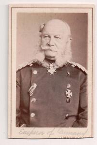 Vintage-CDV-Kaiser-William-I-German-Emperor-Loescher-amp-Petsch-Photo