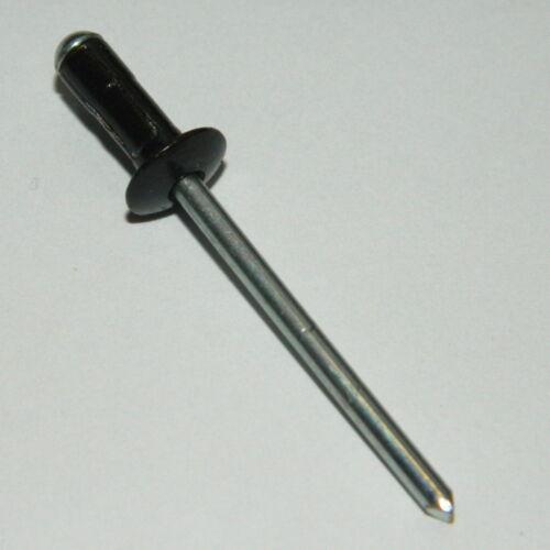 1000x Multi Blindnieten 4x11,5 Alu//Stahl Schwarz  Mehrbereichsniet Flachkopf
