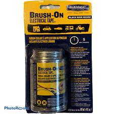 Blue Magic Brush On Electrical Tape Flexible Rubber Waterproof 4 Oz Black
