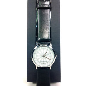 Details about Fine Art Smithsonian Castle Watch Leather Band Water Resistant Stainless Steel