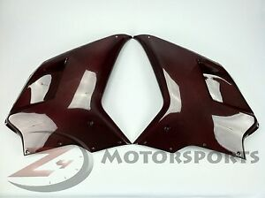 Ducati-848-1098-1198-Upper-Front-Side-Radiator-Fairing-Cowl-Carbon-Fiber-Red