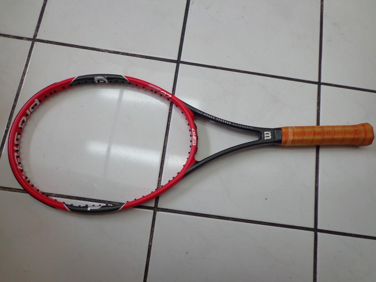Wilson 2014-16 rf 97  autógrafo Pro Staff Federer 4 1 8 Grip Tenis Raqueta  gran descuento