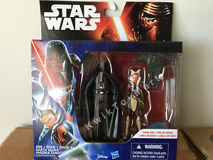 Star-Wars-The-Force-Awakens-Darth-Vader-amp-Ahsoka-Tano-3-75-034-Figure-RARE