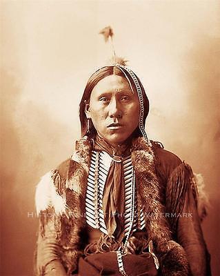COMANCHE BRAVE WARRIOR VINTAGE PHOTO NATIVE AMERICAN1898  #20925