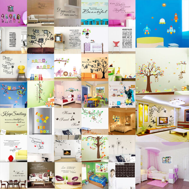 DIY Wallpaper Removable Art Vinyl Quote Wall Sticker Decal Mural Home Room Decor
